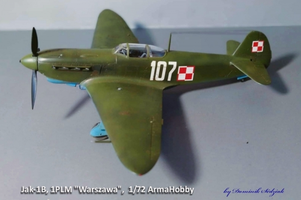 "Jak-1B, 1PLM \""Warszawa\"", 1/72"