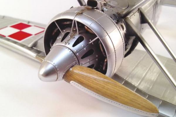 "PZL P11 III ""Cleveland"" 1932 from scratch scale 1/32"